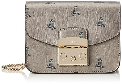 Furla Metropolis Mini Crossbody Borsa Donna Oro toni Color Gold