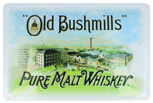 Bushmills Pure Malt Whiskey Metal Sign Painting