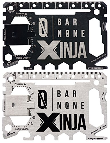 - 50 in 1 Credit Card Multitool Wallet Multi Tool Money Clip Clips Wallet Ninja EDC Gerber Leatherman Knives Utility Knife Slim Wallets Minimalist Men Women Survival Everyday Carry | Bar None Xinja