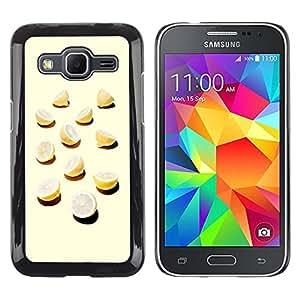 MOBMART Carcasa Funda Case Cover Armor Shell PARA Samsung Galaxy Core Prime - Sun Glazed Orange Cuts