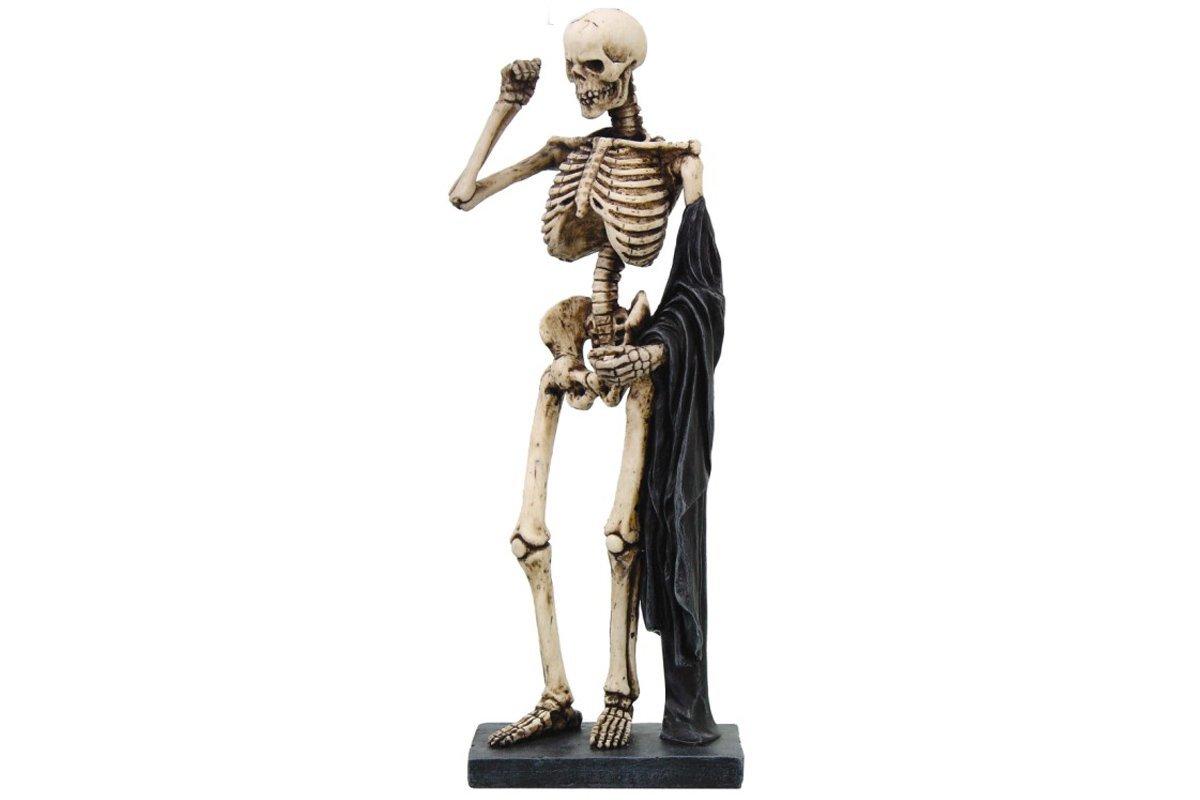 スカルフィギュア Posing Skeleton Sculpture black drape(8274) B00IST2FTO