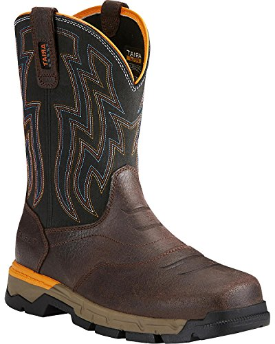 Ariat Work Men's Rebar Flex Western Composite Toe Work Boot, Chocolate Brown, 11 D (Toe Boots Chocolate)