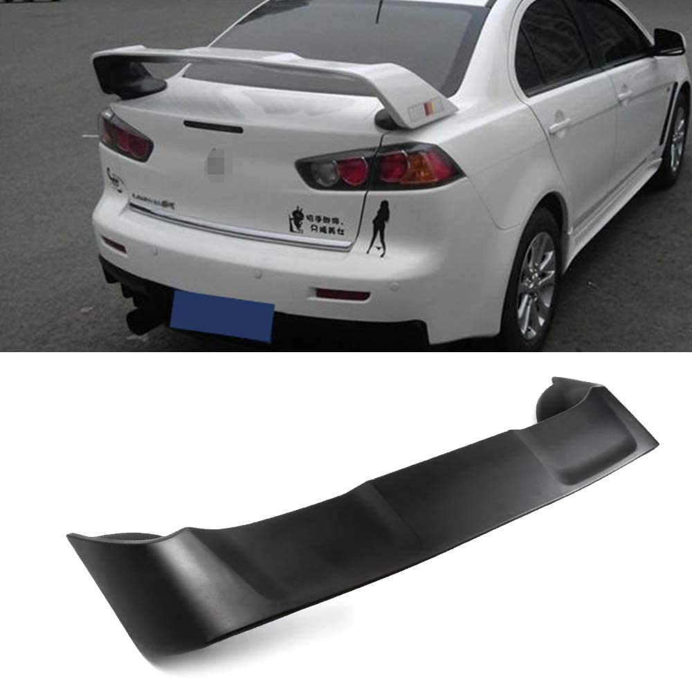 cciyu Black ABS Rear Spoiler Wing for 2008 2009 2010 2011 2012 2013 2014 2015 2016 2017 Mitsubishi Lancer Stylish Trunk Spoiler Wing