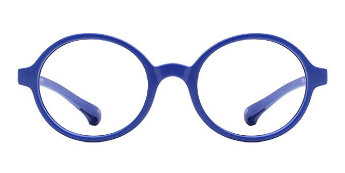 37bf30b88ae5 modesoda Kids Round Eyeglasses,Rubber Flexible Glasses Clear Lens for Boy  Girls