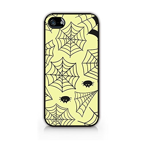 Cream Cookies - Halloween Icons Patterns - Spiderwebs Drawing Background - Apple iPhone 5 Case - Apple iPhone 5S Case - Hard Plastic Case]()