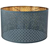 NYMO Lamp shade, blue, brass-colour