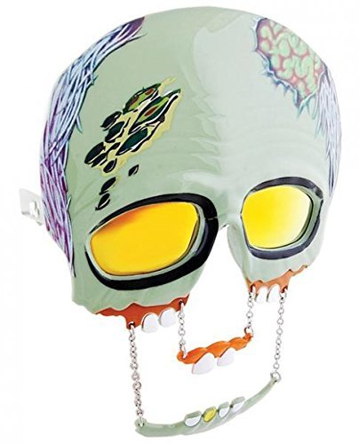 Green Zombie Reflective Lens Sunglasses