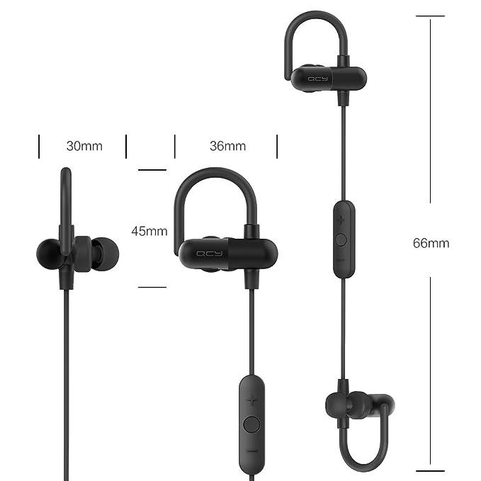 Focuspower] QY11 [actualización QY8 Bluetooth auriculares de diadema con módulo de metal Ganchos de oreja inalámbrico Bluetooth V4.1 estéreo correr ...
