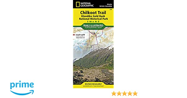 Chilkoot Trail Elevation Map.Chilkoot Trail Klondike Gold Rush National Historic Park National