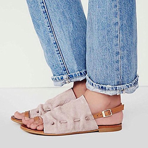Strap Wide Pink Summer Leather 9 Gladiator 2 for Cushioned Outdoor Flat Embellished Lolittas Women Sandals Toe Peep Size Ankle Beach Fit Black Shoes nzfxq0pw7