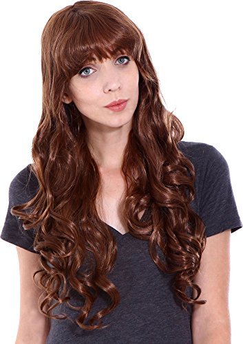Halconia Women's Long Curly Full Hair Wig for
