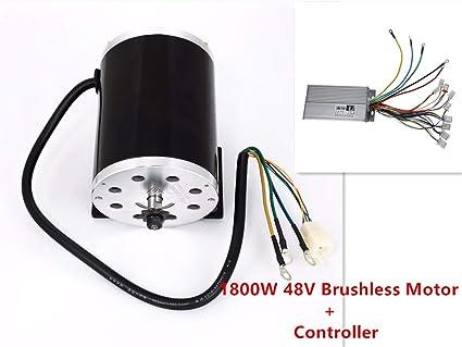 Electric brushless motor 48V 1800W + controller for Go Kart