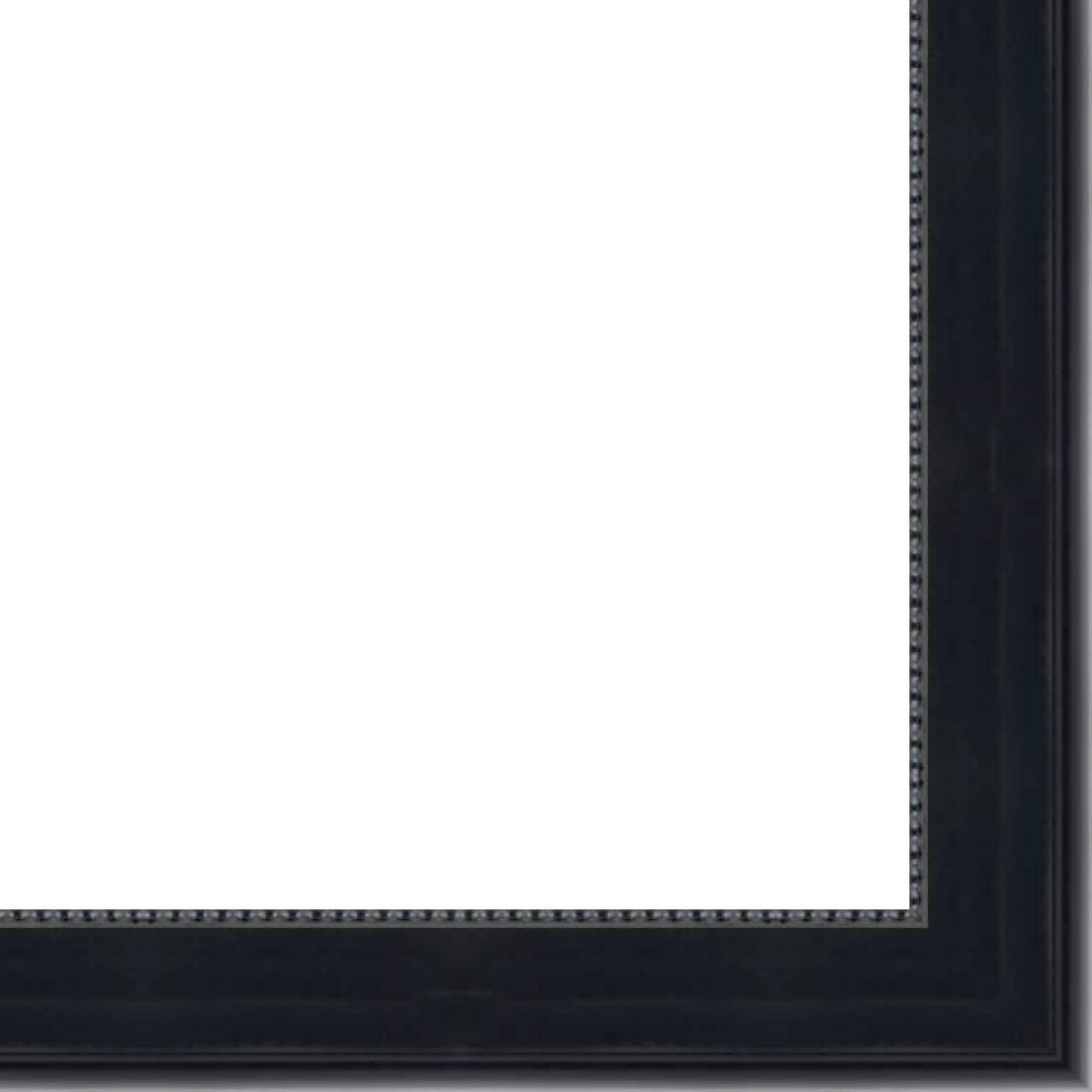 Picture Frame Moulding (Wood) 18ft bundle - Traditional Black Finish - 1.625'' width - 3/8'' rabbet depth