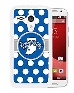 NCAA Indiana State Sycamores 4 White Motorola Moto X Protective Phone Cover Case