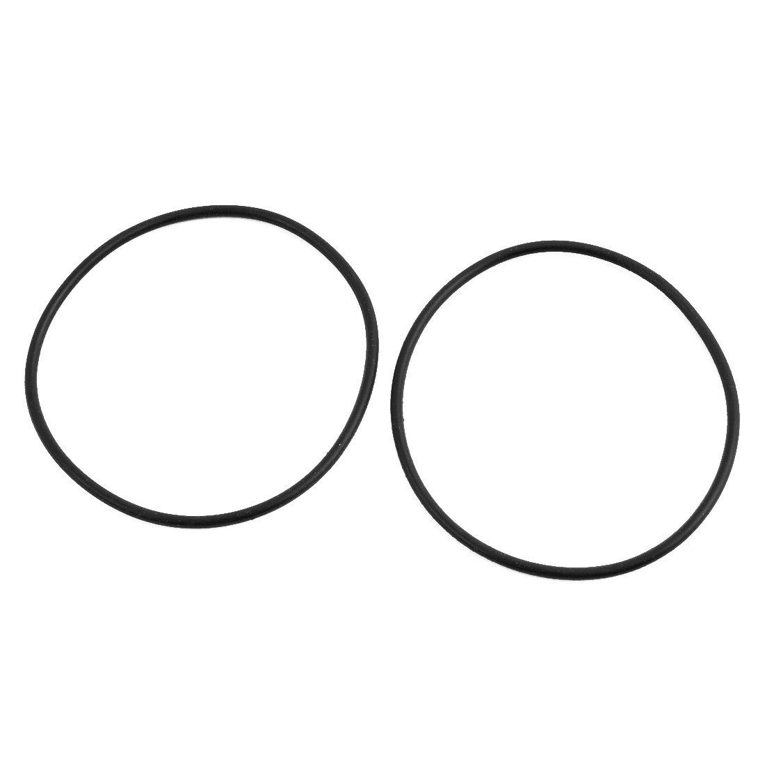 50Pcs 7mm x 1.9mm Rubber O-rings NBR Heat Resistant Sealing Ring Grommets Black