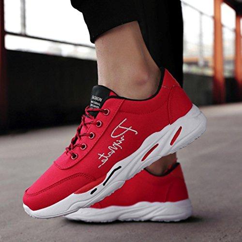 Sneakers Chaussures Sport Course Rouge Fnkdor Hommes De 0AqfwBYg