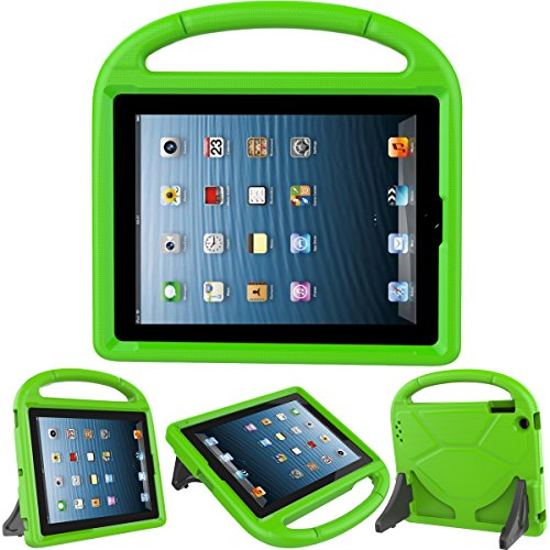 LEDNICEKER Apple iPad 2 3 4 Kids Case - Light Weight Shock Proof Handle Friendly Convertible Stand Kids Case for iPad 2, iPad 3rd Generation, iPad 4th Generation Tablet - Green