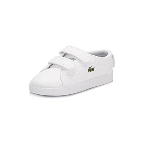 Lacoste Niños Blanco Marcel Lace Zapatillas: Amazon.es: Zapatos y complementos