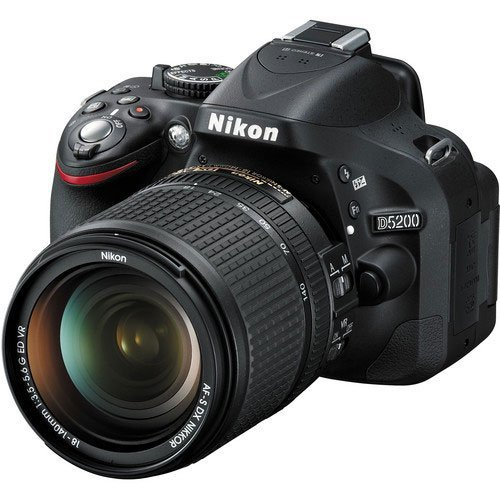 Nikon D5200 24.1 MP DX-Format CMOS Digital SLR Camera with 18-140mm VR NIKKOR Zoom Lens (Discontinued by Manufacturer)