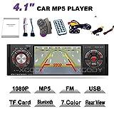 FidgetFidget Bluetooth Car Radio Stereo AUX MP4 MP5 Player 1Din USB SWC Camera HD 4.1''