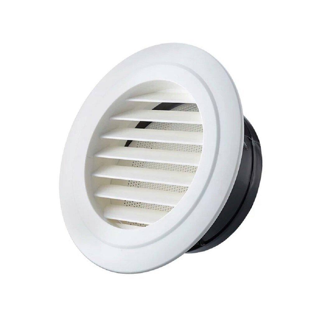 Hon&Guan 4'' Air Vent Louver Air Grill Cover for Bathroom Office Home (ø 100mm)