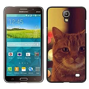 TopCaseStore / la caja del caucho duro de la cubierta de protección de la piel - Garfield Ginger Orange Mongrel Cat - Samsung Galaxy Mega 2