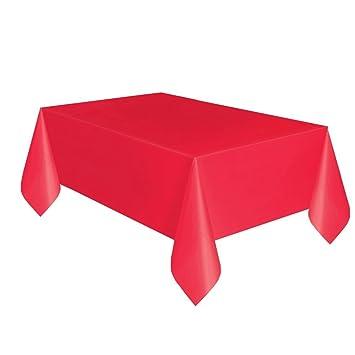 Red Plastic Tablecloth, 108u0026quot; ...