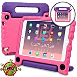 Pure Sense Buddy Kids Case Compatible with Apple iPad Mini 4 | Anti Microbial Heavy Duty Shock Proof Cover for Kids | Protective Case Girls, Boys | Shoulder Strap, Handle & Stand | A1538 A1550 (Pink)
