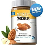 Naturally More Almond Butter - 100% All Natural Nut Butters - Finely Roasted - Probiotics - Heart Healthy - Flax - Gluten Free - Peanut Free - Vegan 16 oz.