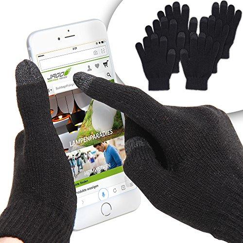 Touchscreen Handschuhe für Smartphone Handy, Unisex/Universalgröße, schwarz