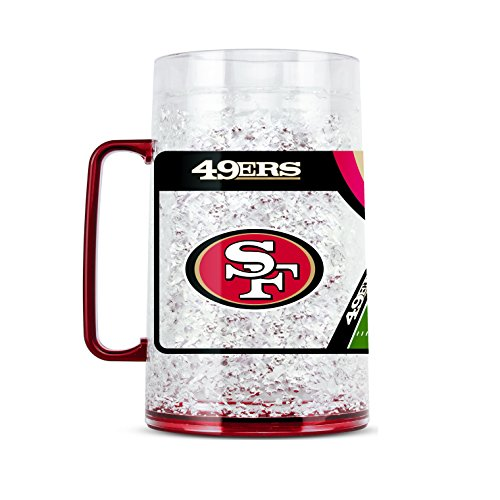 NFL San Francisco 49Ers 38oz Crystal Freezer Monster Mug
