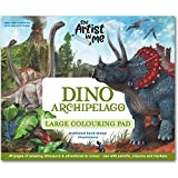 The Artist in me - Dino Archipelago - Large Coloring Pad - Delightfully Illustrated, Premium Children s Gift - Made in Australia.