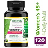 Women's 45+ 4-Daily Multi – Multivitamin with CoQ10, Vitamin K2 (MK-7) & L-Glutathione – Supports Healthy Heart, Strong Bones, Balanced Hormones – Emerald Laboratories – 120 Vegetable Capsules Review
