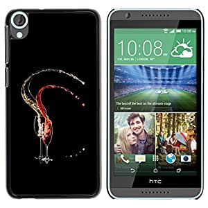 Be Good Phone Accessory // Dura Cáscara cubierta Protectora Caso Carcasa Funda de Protección para HTC Desire 820 // Red & White Vine