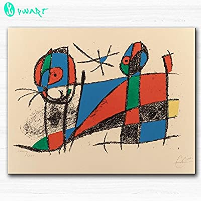 Link Line Huge Printing Oil Painting Wall Painting Lithograph Ii No Vi 1975 By Joan Miro Wall Art Picture For Living Room Painting