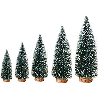 1pcs Artificial Tabletop Mini Pine Christmas Trees Decorations Festival Miniature  Xmas Tree with Wood Look Base - Amazon.com: 1pcs Artificial Tabletop Mini Pine Christmas Trees