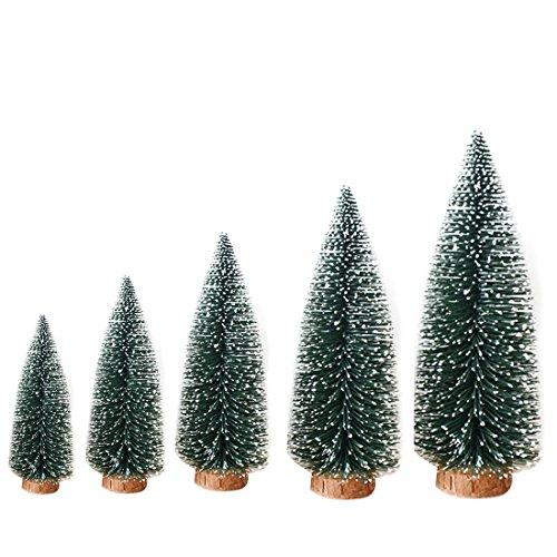 1pcs artificial pino mesa Mini Árboles de Navidad decoraciones Festival Árbol de Navidad en miniatura con look de madera...