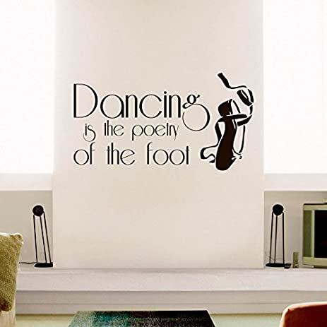 Amazoncom Vinyl Wall Decal Motivational Quote Dancing Is The - Wall decals motivational quotes