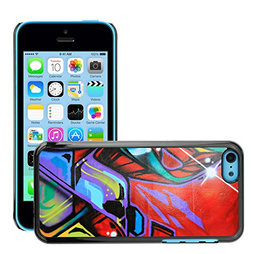 Premio Sottile Slim Cassa Custodia Case Cover Shell // V00002332 Graffiti // Apple iPhone 5C