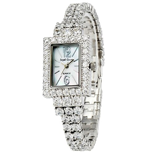 Royal Crown 3584B Japan Quartz Women and Girls Jewelry Watches Waterproof fashion Wrist band from Royal Crown