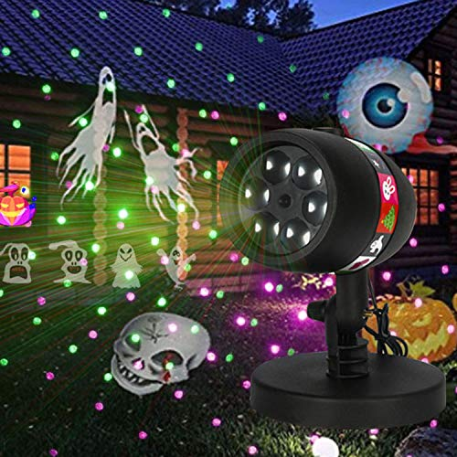 (YAMADIE Projection Night Light Outdoor SUB Power Supply Snowflake Light Projector Light Rotating Phantom Waterproof LED Projection Light Card 12 Pattern Projection Lawn Light 191217cm)