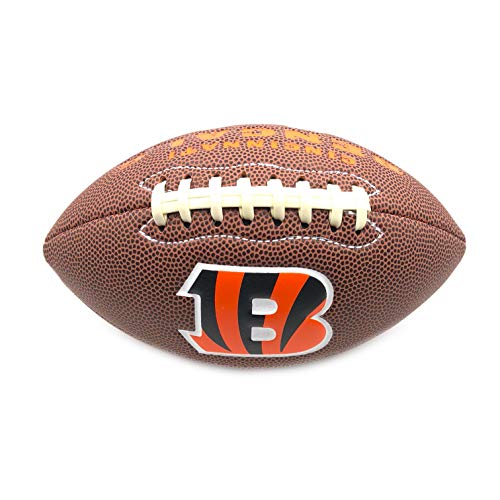 Jarden Sports Licensing Official National Football League Fan Shop Authentic NFL AIR IT Out Mini Youth Football. Great for Pick up Game with The Kids. (Cincinnati Bengals) Cincinnati Bengals Embroidered Football