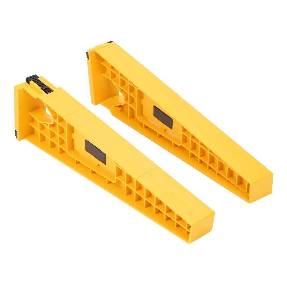 dibujos Plantilla deslizante para cajones gu/ía de instalaci/ón herramienta de carpinter/ía 2 unidades soporte de montaje para armarios correderas armario
