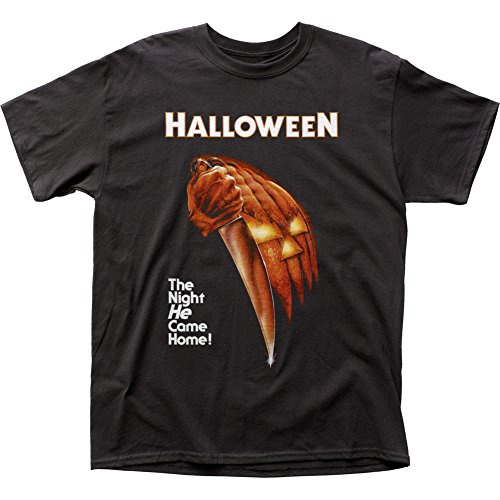 Halloween - Mens Night He Came Home T-shirt Large Black ()