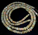 Natural ETHIOPIAN OPAL smooth beads ,Smooth rondelles, 4 mm -- 8 mm ,16 inch strand
