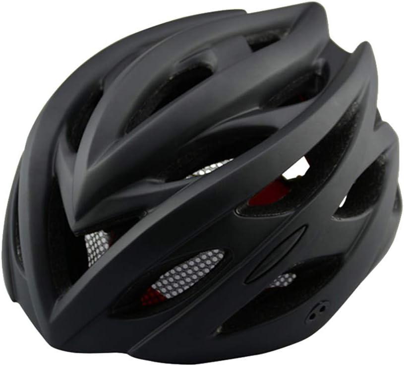 Resistente a Impactos Casco de Ciclismo Transpirable Ultraligero con Luz de Seguridad Casco de Seguridad para Bicicleta de Monta/ña // Bicicleta de Carretera Casco de Bicicleta para Adultos con Luz
