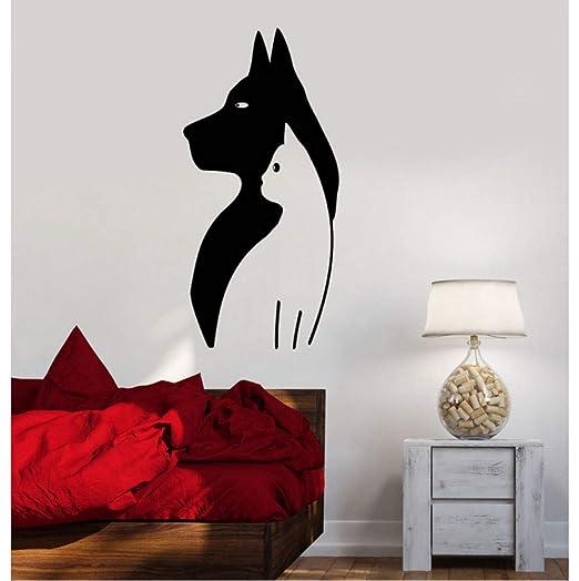 Lindo vinilo tatuajes de pared perro gato tienda de mascotas ...