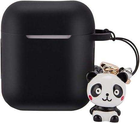 Carcasa para Apple Airpods 1/2 Case, Funda Protectora de Silicona antiarañazos antigolpes Caja de Carga Cover con Colgante para Apple Airpods 1 2, Negro: Amazon.es: Deportes y aire libre