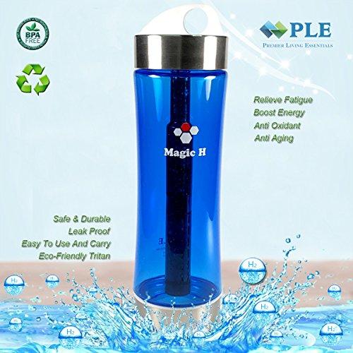 Portable Healthy Water Bottle Mineral Filter Water Bottle Purifier Provide Hydrogen Alkaline Water Anti Aging, PLE Magic H bottle