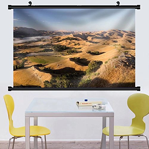 Gzhihine Wall Scroll Landscape of Desert Hill with Oasis under Sky Fabric Wall Home Decor - Hills Desert Outlets